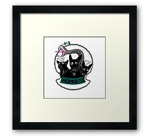 Lucy Fur the Hell Hound Framed Print