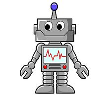 ROBOT, Cartoon, Smiley Photographic Print