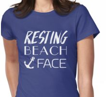 Resting Beach Face Womens Fitted T-Shirt