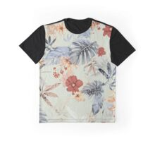 Tropical Daylight Floral Pattern Graphic T-Shirt