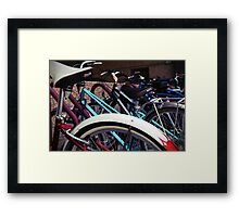 A group of bicycles Framed Print