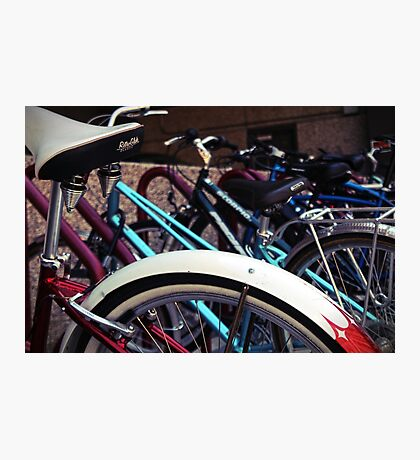 A group of bicycles Photographic Print