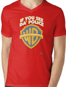 If You See The Police Warn A Brother Mens V-Neck T-Shirt