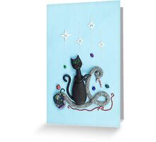 Happy Christmas Cat Greeting Card