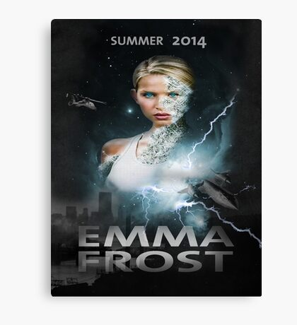 Emma frost Movie poster Canvas Print