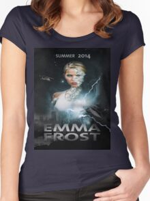 Emma frost Movie poster Women's Fitted Scoop T-Shirt