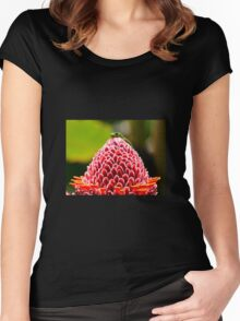 Gecko with flower Women's Fitted Scoop T-Shirt