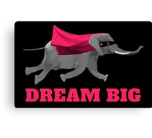 Flying Elephant Dream big Canvas Print