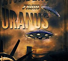 Space invaders from Uranus by Crap Illustration