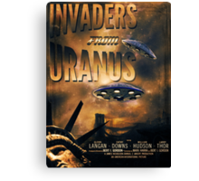 Space invaders from Uranus Canvas Print