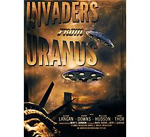 Space invaders from Uranus Photographic Print