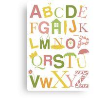 Graphic Alphabet Letters Canvas Print