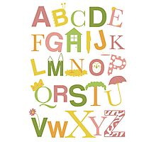 Graphic Alphabet Letters Photographic Print