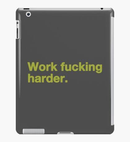 Work Fucking Harder Helvetica iPad Case/Skin