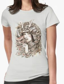 Peacock Samurai Womens Fitted T-Shirt