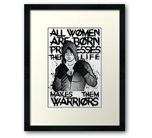 MMA female fighter Framed Print