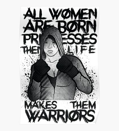 MMA female fighter Poster