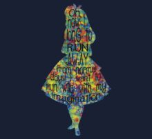 Alice In Wonderland Quote - Colorful Watercolor Kids Tee