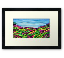 Patchwork Hillside Framed Print