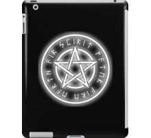 WICCA, White, Pentacle, Pentagram, Witch, Wizard, Modern, Pagan, Witchcraft, Religion, Cult iPad Case/Skin