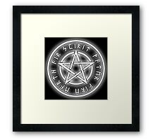 WICCA, White, Pentacle, Pentagram, Witch, Wizard, Modern, Pagan, Witchcraft, Religion, Cult Framed Print