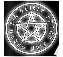 WICCA, White, Pentacle, Pentagram, Witch, Wizard, Modern, Pagan, Witchcraft, Religion, Cult Poster