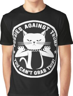 Pussies Against Trump Black Graphic T-Shirt