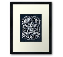 Sailor Spirit Framed Print