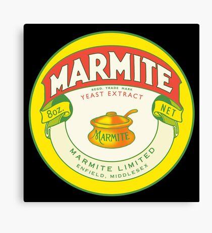 Marmite Retro Label Canvas Print