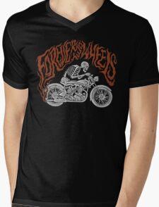 Forever Two Wheels Mens V-Neck T-Shirt