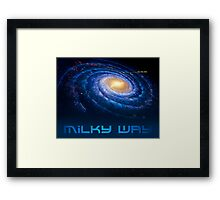 Milky Way - You Are Here - Version 3 Framed Print