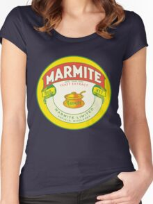 Marmite Retro Label Women's Fitted Scoop T-Shirt