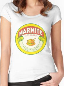 Marmite Retro Label Women's Fitted Scoop T-Shirt