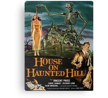 Vintage poster - House on Haunted Hill Canvas Print