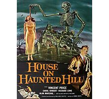Vintage poster - House on Haunted Hill Photographic Print
