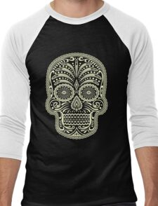 Sugar Skull Men's Baseball ¾ T-Shirt