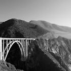 Bixby Creek Bridge Black and White by Miriam Gordon