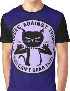 Pussies Against Trump Purple Graphic T-Shirt