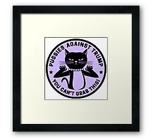 Pussies Against Trump Purple Framed Print