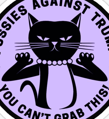 Pussies Against Trump Purple Sticker