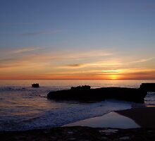 sunset from the rocks by Miriam Gordon