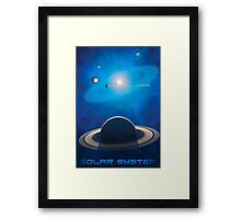 Solar System - You Are Here - Version 2 Framed Print