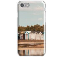 Beach Huts at Brightlingsea, Essex, UK iPhone Case/Skin