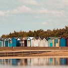 Beach Huts at Brightlingsea, Essex, UK by Pauline Tims