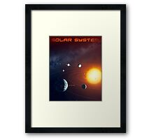 Solar System - You Are Here - Version 3 Framed Print