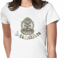 Spiritual Buddha Drawing  Womens Fitted T-Shirt