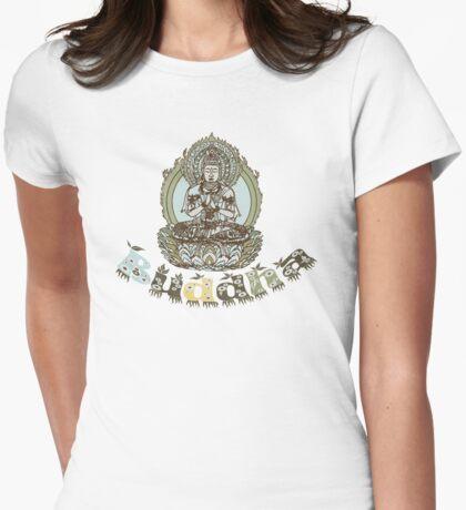 Spiritual Buddha Drawing  Womens Fitted T-Shirt