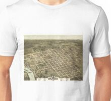 Vintage Pictorial Map of Columbia SC (1872) Unisex T-Shirt