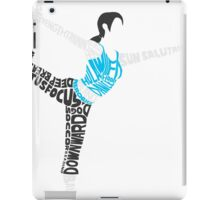 Wii Fit Trainer Typography iPad Case/Skin