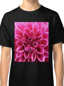 Pink Dahlia Flower Macro Classic T-Shirt